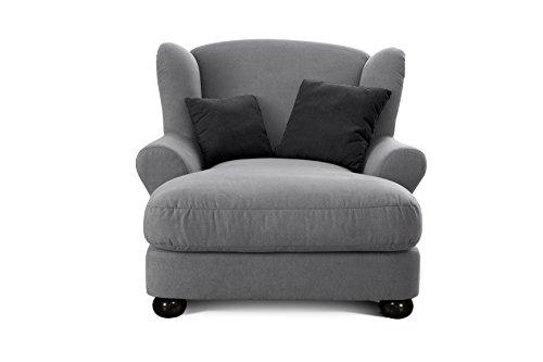 ohrensessel grau free xxl ohrensessel in grau aus stoff mega sessel mit hohem sitzkomfort groer. Black Bedroom Furniture Sets. Home Design Ideas