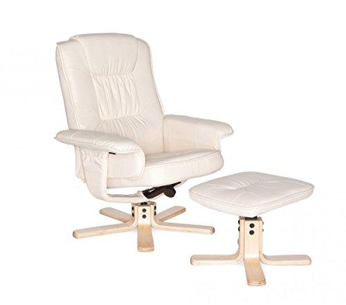 Amstyle Comfort Relaxsessel mit Hocker