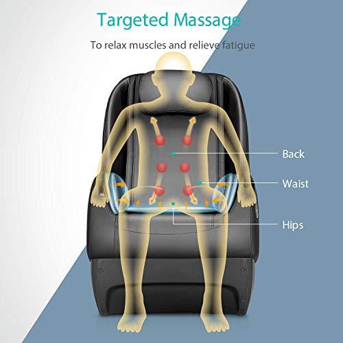 Naipo Shiatsu Massage Stuhl Massagesessel Ganzkörpermassagegerät mit SL Track, 3D Surround Sound Musik - 4