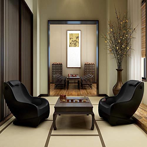 Naipo Shiatsu Massage Stuhl Massagesessel Ganzkörpermassagegerät mit SL Track, 3D Surround Sound Musik - 9