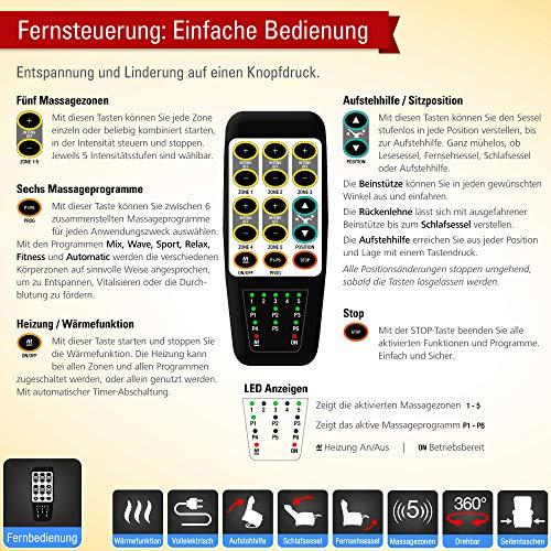 throner exklusiv massagesessel schlafsessel mit. Black Bedroom Furniture Sets. Home Design Ideas