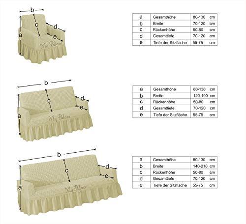 Stretch 2 Sitzer Bezug, 2 Sitzer Husse aus Baumwolle & Polyester. Sehr elastische Sofaueberwurf in grau / grey / gri. Sofabezug Hussen Sofahusse Stretch Husse / Stretch Hussen / Sofahusse 2-Sitzer / Sofabezug 2 Sitzer - 3