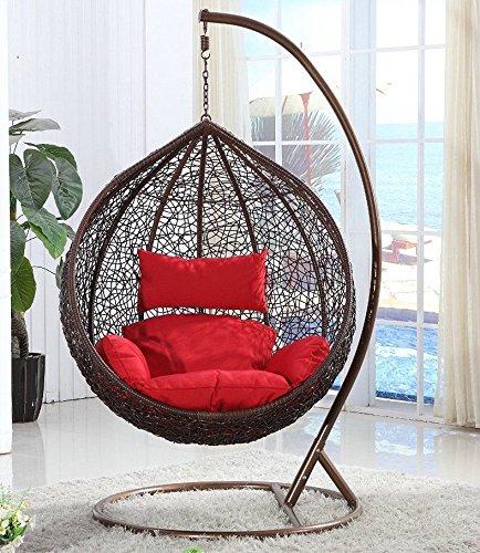 xl h ngesessel mit gestell vogelnest von elfnick mit polster braun entspannter alltag. Black Bedroom Furniture Sets. Home Design Ideas