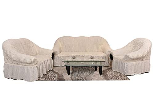 stretch 2 sitzer bezug 2 sitzer husse aus baumwolle polyester sehr elastischer sofa. Black Bedroom Furniture Sets. Home Design Ideas