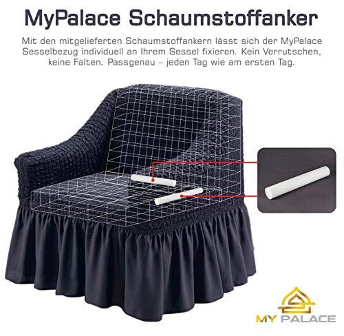 Luxus Sessel- und Sofahussen, Sessel/1-Sitzer, weiss - 3