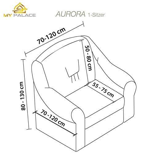 Luxus Sessel- und Sofahussen, Sessel/1-Sitzer, weiss - 6