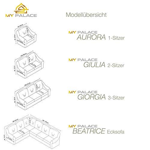 Luxus Sessel- und Sofahussen, Sessel/1-Sitzer, weiss - 7